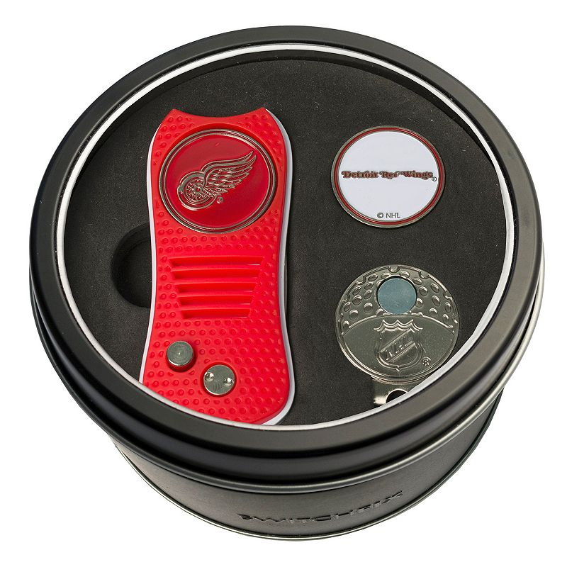Team Golf Detroit Red Wings Switchfix Divot Tool. Cap Clip & Ball Marker Set. Multicolor