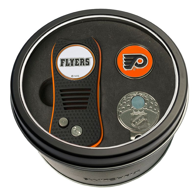 Team Golf Philadelphia Flyers Switchfix Divot Tool. Cap Clip & Ball Marker Set. Multicolor