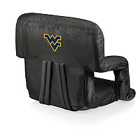 Picnic Time West Virginia Mountaineers Ventura Portable Recliner Chair