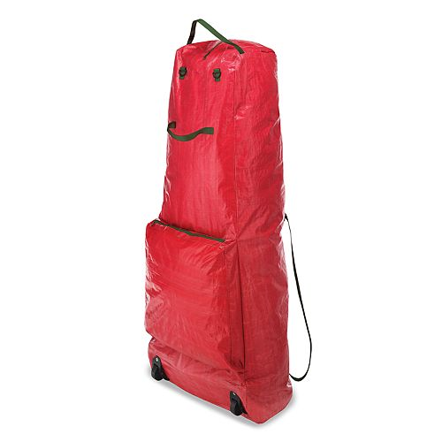 Christmas Tree Rolling Storage Bag.Standing Christmas Tree Storage Bag With Wheels