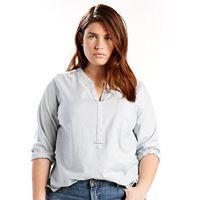 Plus Size Levi's Easy Popover Denim Shirt