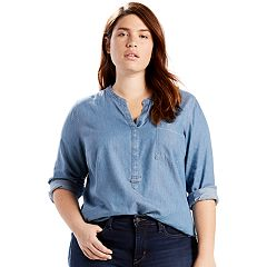 Plus Size Levi's Easy Popover Denim Shirt