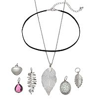 Mudd® Leaf & Heart Interchangeable Charm Necklace Set