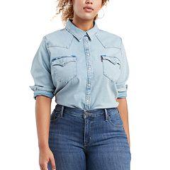 726ec3e40fe Plus Size Levi s Western Denim Shirt