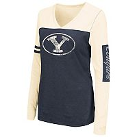 Women's Campus Heritage BYU Cougars Distressed Graphic Tee
