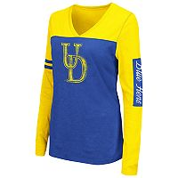 Women's Campus Heritage Delaware Blue Hens Distressed Graphic Tee