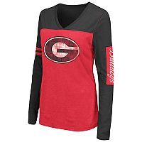 Women's Campus Heritage Georgia Bulldogs Distressed Graphic Tee