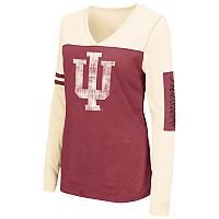 Women's Campus Heritage Indiana Hoosiers Distressed Graphic Tee