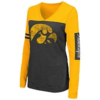 Women's Campus Heritage Iowa Hawkeyes Distressed Graphic Tee