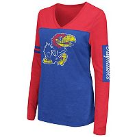 Women's Campus Heritage Kansas Jayhawks Distressed Graphic Tee