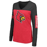 Women's Campus Heritage Louisville Cardinals Distressed Graphic Tee