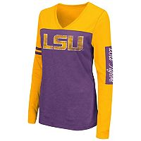Women's Campus Heritage LSU Tigers Distressed Graphic Tee
