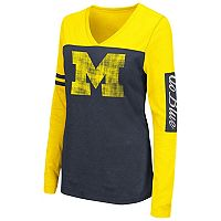Women's Campus Heritage Michigan Wolverines Distressed Graphic Tee