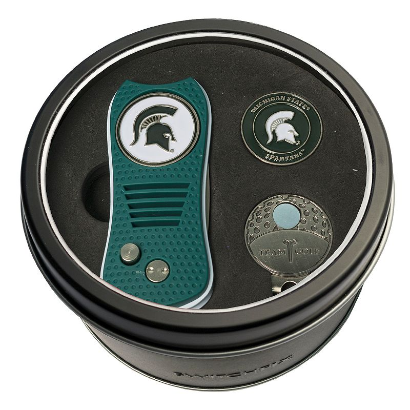 Team Golf Michigan State Spartans Switchfix Divot Tool. Cap Clip & Ball Marker Set. Multicolor