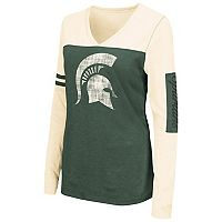 Women's Campus Heritage Michigan State Spartans Distressed Graphic Tee