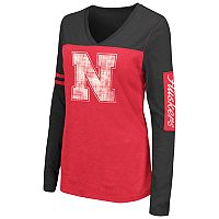Women's Campus Heritage Nebraska Cornhuskers Distressed Graphic Tee