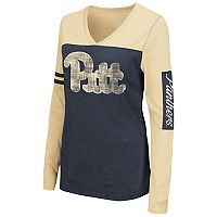 Women's Campus Heritage Pitt Panthers Distressed Graphic Tee