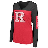 Women's Campus Heritage Rutgers Scarlet Knights Distressed Graphic Tee