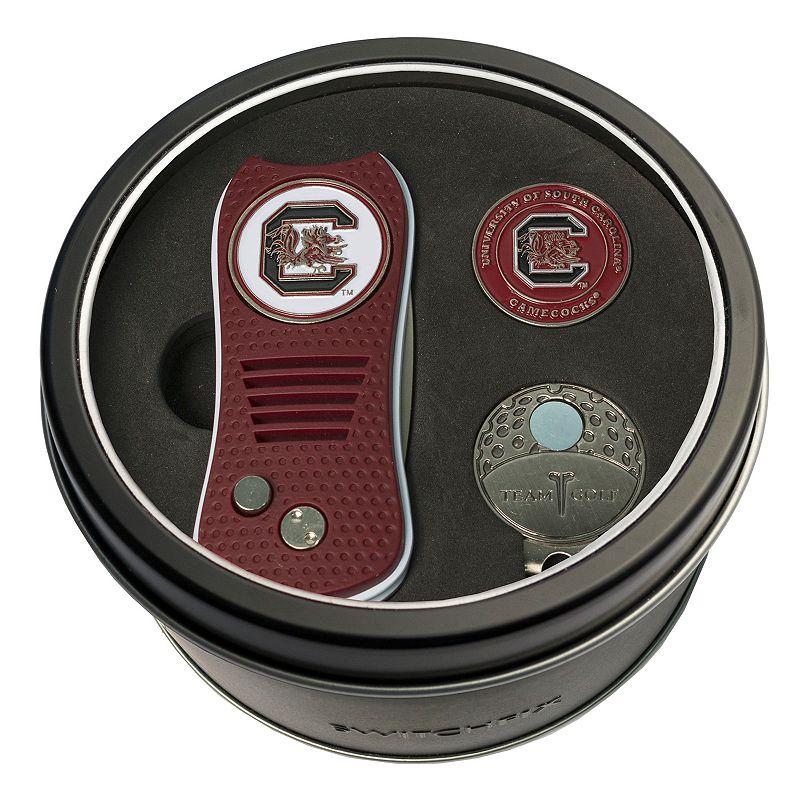 Team Golf South Carolina Gamecocks Switchfix Divot Tool. Cap Clip & Ball Marker Set. Multicolor