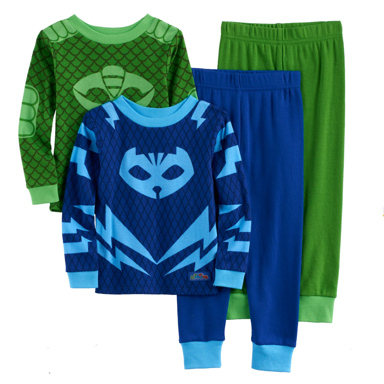 Toddler Boy PJ Masks Catboy U0026 Gekko 4 Pc. Pajama Set