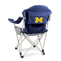 Picnic Time Michigan Wolverines Reclining Camp Chair