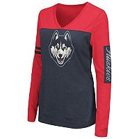Women's Campus Heritage UConn Huskies Distressed Graphic Tee