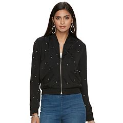 Women's Jennifer Lopez Studded Bomber Jacket