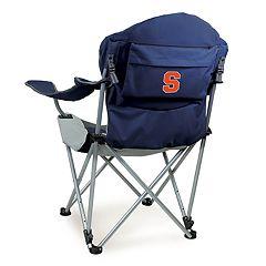 Picnic Time Syracuse Orange Reclining Camp Chair
