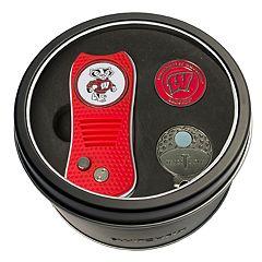 Team Golf Wisconsin Badgers Switchfix Divot Tool, Cap Clip & Ball Marker Set