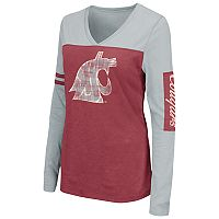 Women's Campus Heritage Washington State Cougars Distressed Graphic Tee