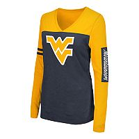 Women's Campus Heritage West Virginia Mountaineers Distressed Graphic Tee