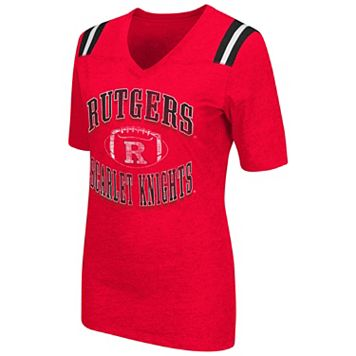 Women's Campus Heritage Rutgers Scarlet Knights Distressed Artistic Tee