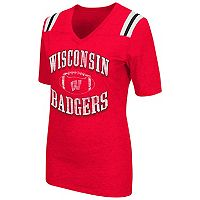 Women's Campus Heritage Wisconsin Badgers Distressed Artistic Tee