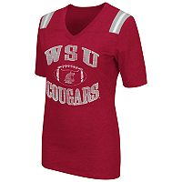 Women's Campus Heritage Washington State Cougars Distressed Artistic Tee