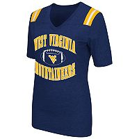 Women's Campus Heritage West Virginia Mountaineers Distressed Artistic Tee