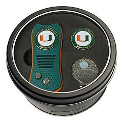 Team Golf Miami Hurricanes Switchfix Divot Tool, Cap Clip & Ball Marker Set