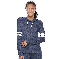 Juniors' SO® Striped Sleeve Hoodie