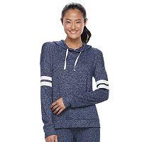 Juniors' SO® Striped Sleeve Hoodie