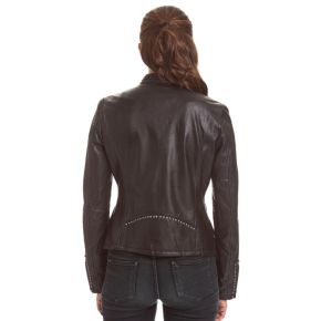 Women's Excelled Lambskin Studded Moto Jacket