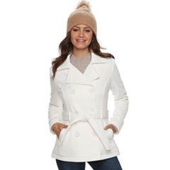 Womens White Peacoat Coats & Jackets - Outerwear, Clothing   Kohl's