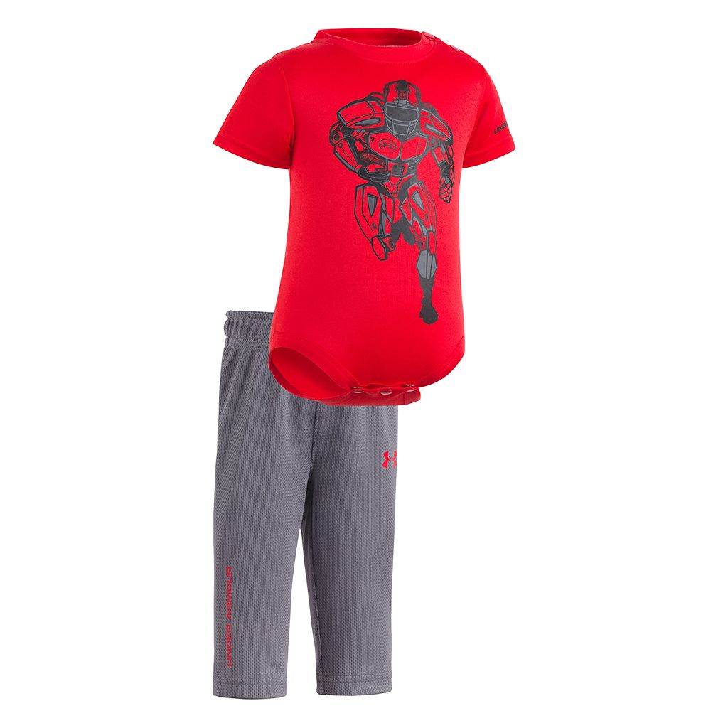 Newborn Baby Boy Under Armour Football Bodysuit & Pants Set