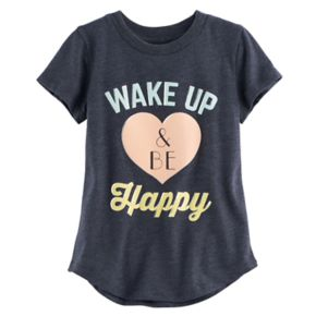 """Toddler Girl Jumping Beans® """"Wake Up & Be Happy"""" Graphic Tee"""