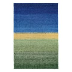 Couristan Oasis Greener Pastures Striped Wool Rug