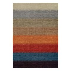 Couristan Oasis Lake Horizon Striped Wool Rug