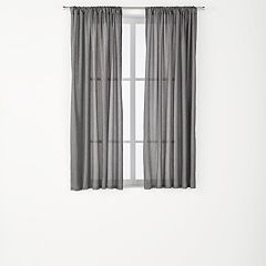 The Big One® 2-pack Crushed Voile Sheer Window Curtains