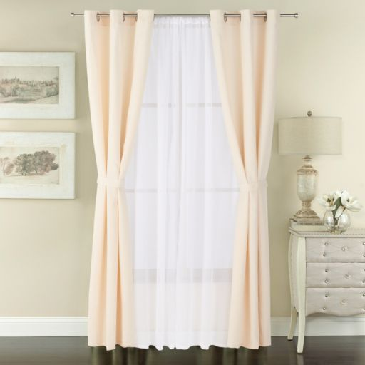 The Big One® 6-pack Solid Window Curtains