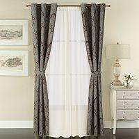 The Big One® Jacquard 6-piece Window Curtain Set