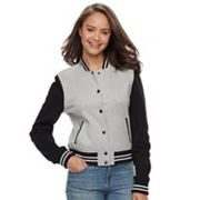 Juniors' Sebby Colorblock Fleece Varsity Jacket