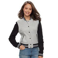 Juniors' Sebby Colorblock Fleece Varsity Jacket