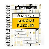 Brain Games 10-Minute Sudoku Puzzle Book by Publications International, Ltd.